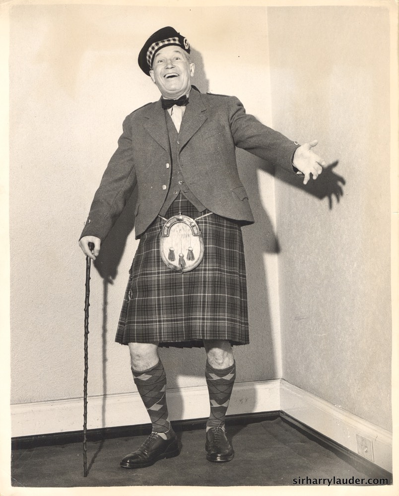 Maurice Chevalier Harry Lauder Pose 1953