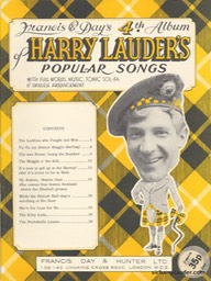 Music Booklet Francis & Days 4th Album Of Harry Lauders Popular Songs New Style Cover