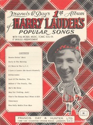 Music Booklet Francis & Days 1st Album Of Harry Lauders Popular Songs New Style Cover