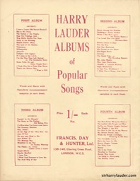 Music Booklet Francis & Days 2nd Album Of Harry Lauders Popular Songs Cover Red London -5