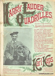 Music Sheet Harry Lauder Quadrilles Francis Day & Hunter Ltd London 1908