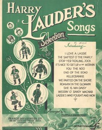 Music Sheet Harry Lauders Songs Francis Day & Hunter Ltd London 1942