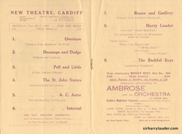 New Theatre Cardiff Wales Programme Booklet Dated Oct 21 1935 -2