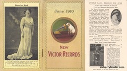 New Victor Records Booklet Photo & Article Jun 1910