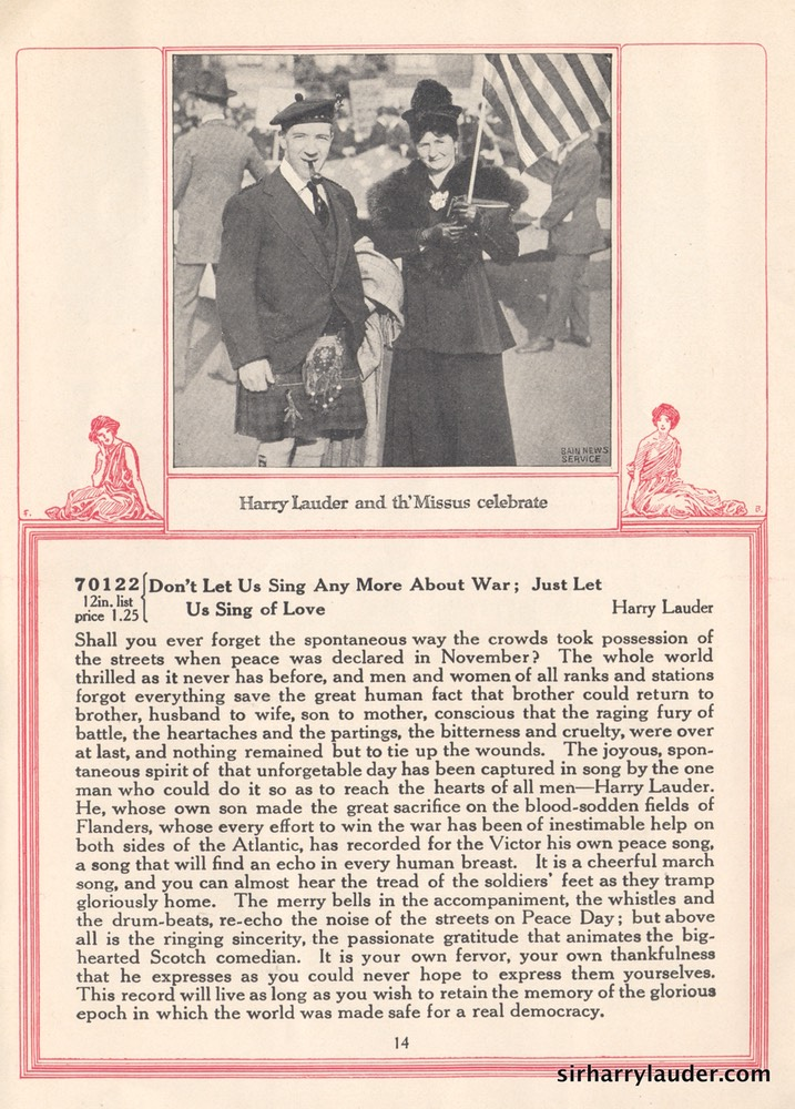 New Victor Records Booklet Article & Photo Feb 1919