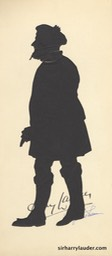 Original Silhoutte Of Sir Harry By Beatix Sherman Autographed by Both