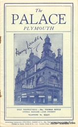 Palace Plymouth Programme Booklet Signed Sep 23 1935 -1