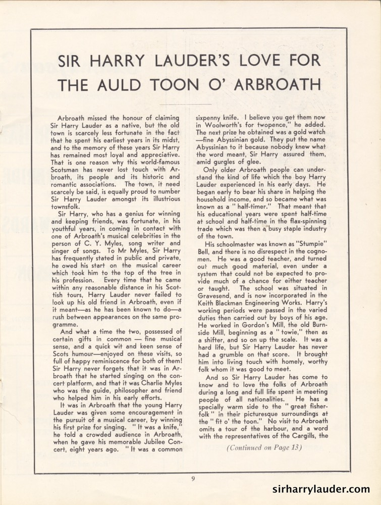 Palace Theatre Arbroath Grand Concert Programme Booklet Oct 20 1940 -04
