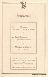 Palace Theatre London Programme Booklet Mar 26 1921** -3