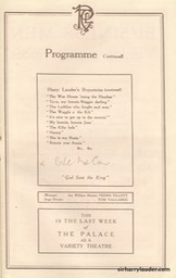 Palace Theatre London Programme Booklet Mar 26 1921** -7