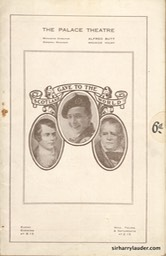 Palace Theatre London Programme Booklet Mar 26 1921** -1