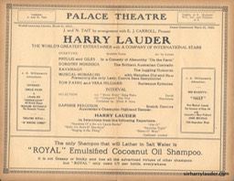 Palace Theatre Sydney Programme Booklet Mar 31 1923 -3