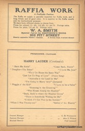 Palace Theatre Sydney Programme Booklet Mar 31 1923 -4