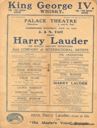Palace Theatre Sydney Programme Booklet July 12 1919 -2