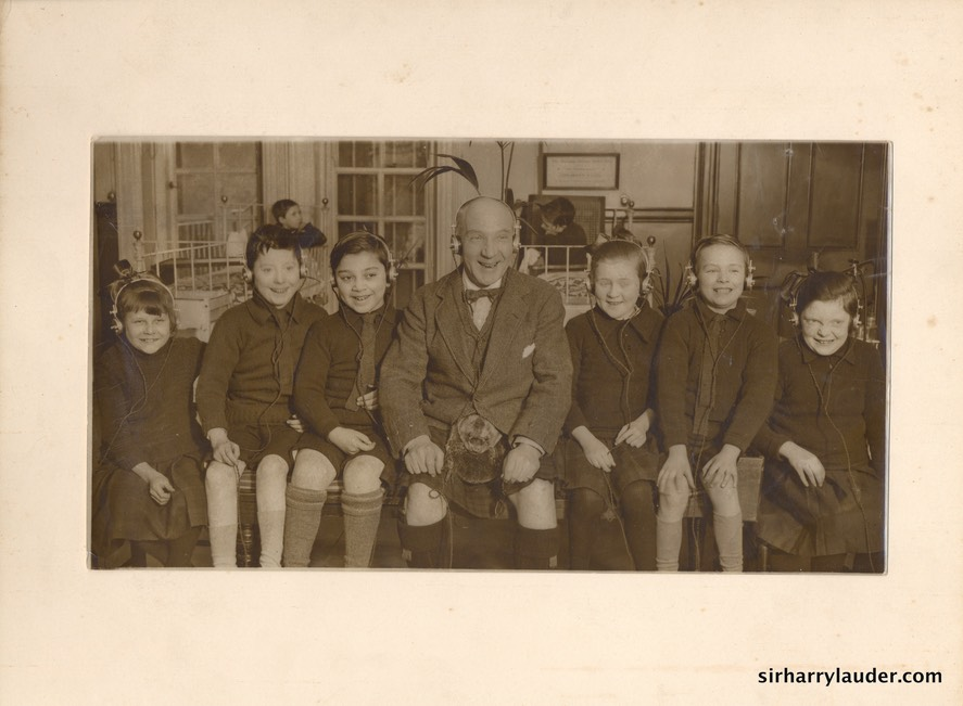 Photo Album Sir Harry & Children With Headphones Undated