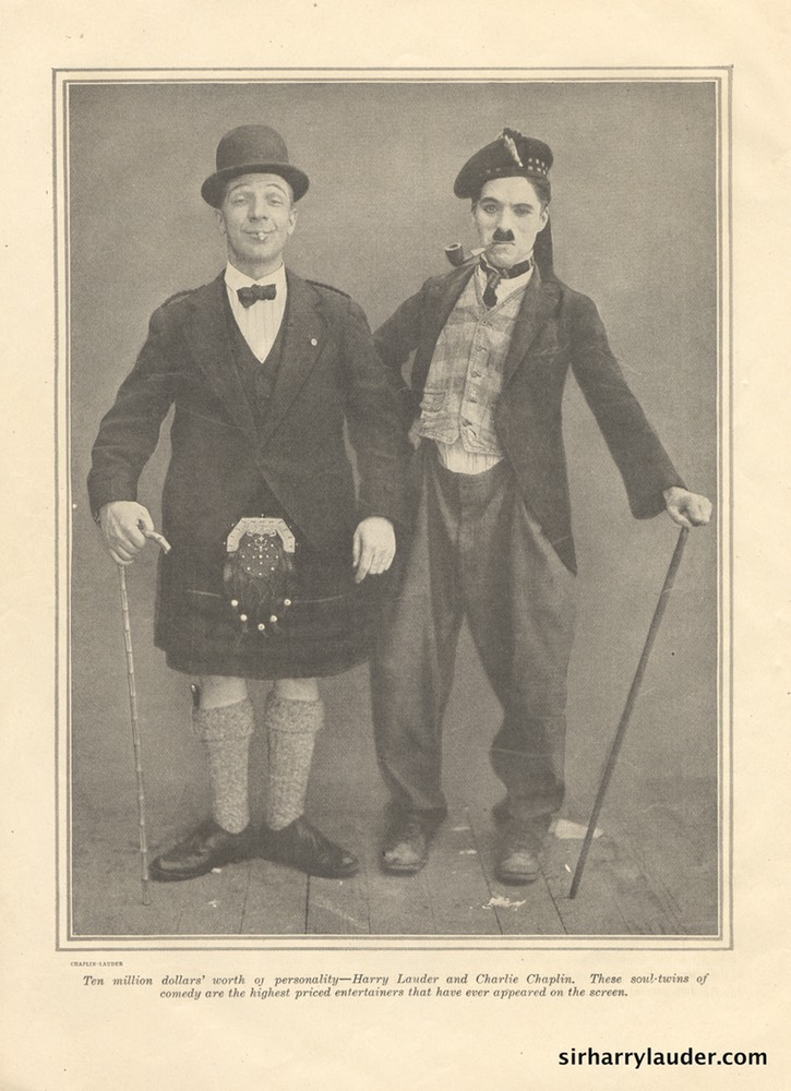 Photo Lauder & Chaplin Film Fun Magazine Undated