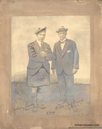 Photo On Board Retouched Sir Harry & Willie Cochrane 1918