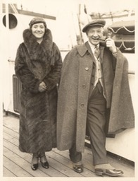 Photo Sir Harry & Greta Lauder In NY Sails Home On SS Transylvania Jan 28 1933