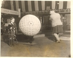 Photo Sir Harry With Boy at NY Armory - Dated Nov 3 1926