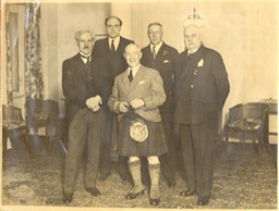 Photo Sir Harry With Ramsay MacDonald John Reith Lord Camrose Lord Innesforth Farewell for South Africa - Mar 26 1931