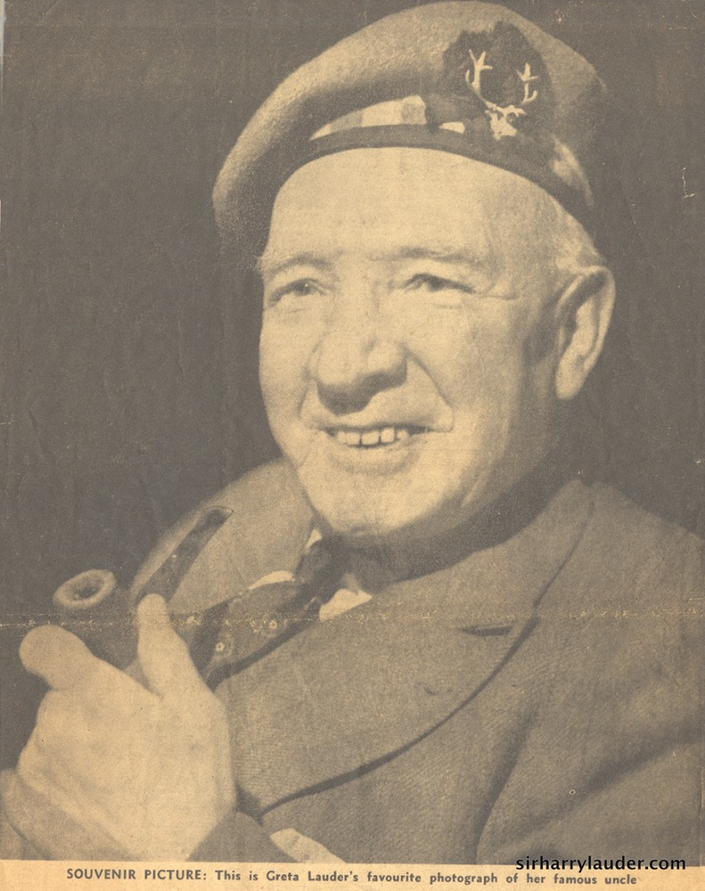 Photo Unknown Newspaper Greta Lauder Favorite Photo Of Sir Harry Undated