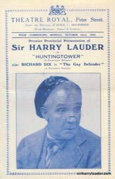 Photocopy Huntingtower Programme Oct 1928 -1