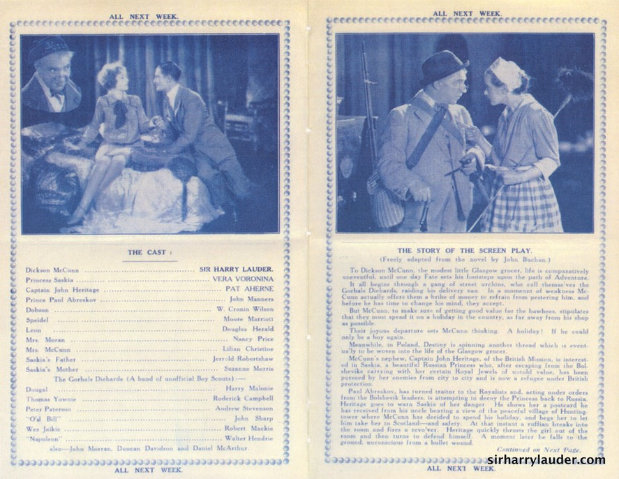 Photocopy Huntingtower Programme Oct 1928 -2