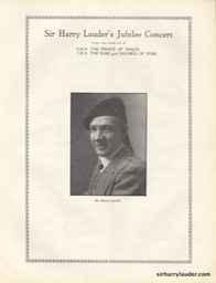 Picture House Arbroath Sir Harry Lauder's Jubilee Program Booklet Aug 24 1932 -3