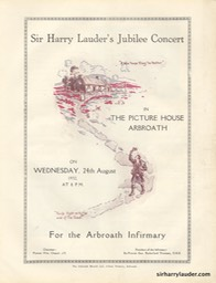 Picture House Arbroath Sir Harry Lauder's Jubilee Program Booklet Aug 24 1932 -2