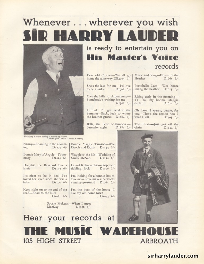 Picture House Arbroath Sir Harry Lauder's Jubilee Program Booklet Aug 24 1932 -5