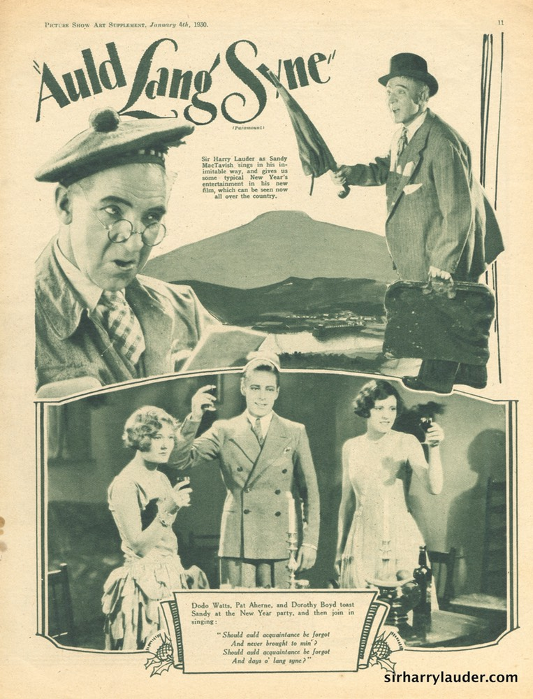 Picture Show Art Supplement Auld Lang Syne Jan 4 1930