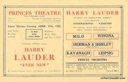 Princes Theatre London Programme Bi-Fold April 17 1922 Reverse