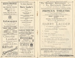 Princes Theatre London Programme Booklet** 1922 -2