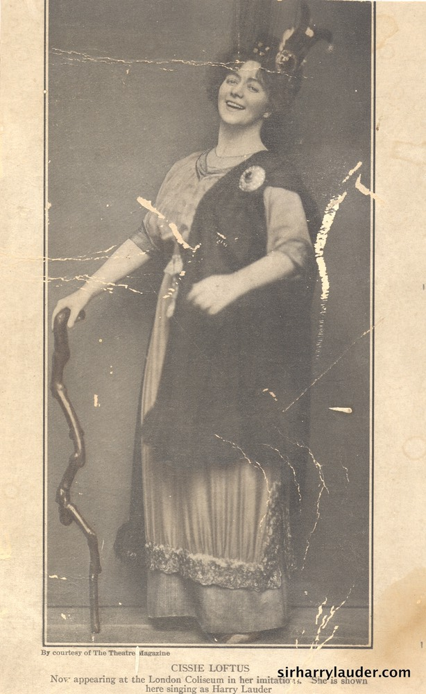 Printed Photo Of Celia Loftus Undated