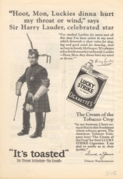Promotion For Lucky Strike Cigarettes Dated Pencil Mar 1928