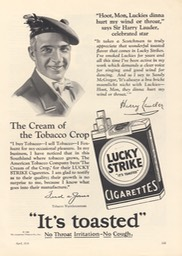 Promotion For Lucky Strikes April 1928