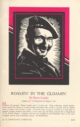 Promotion For Roamin' In The Gloamin' Undated Prob 1928