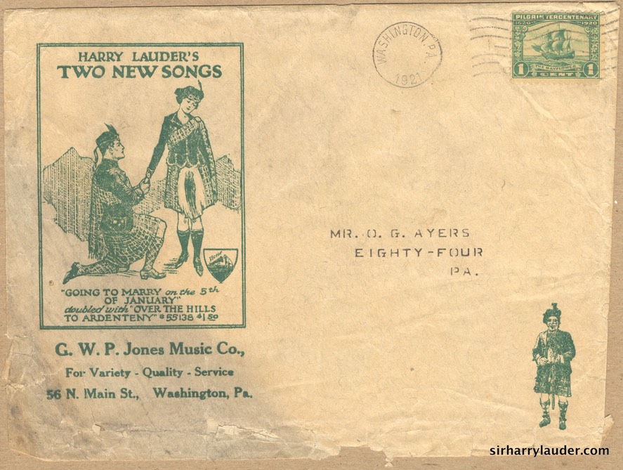 Promotional Advertisement Envelope Washington Penna Postmarked 1921