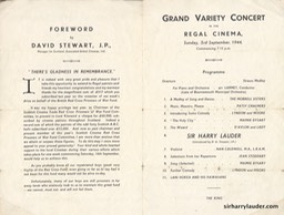 Regal Cinema Grand Variety Concert Bi-Fold Sep 3 1944 Reverse