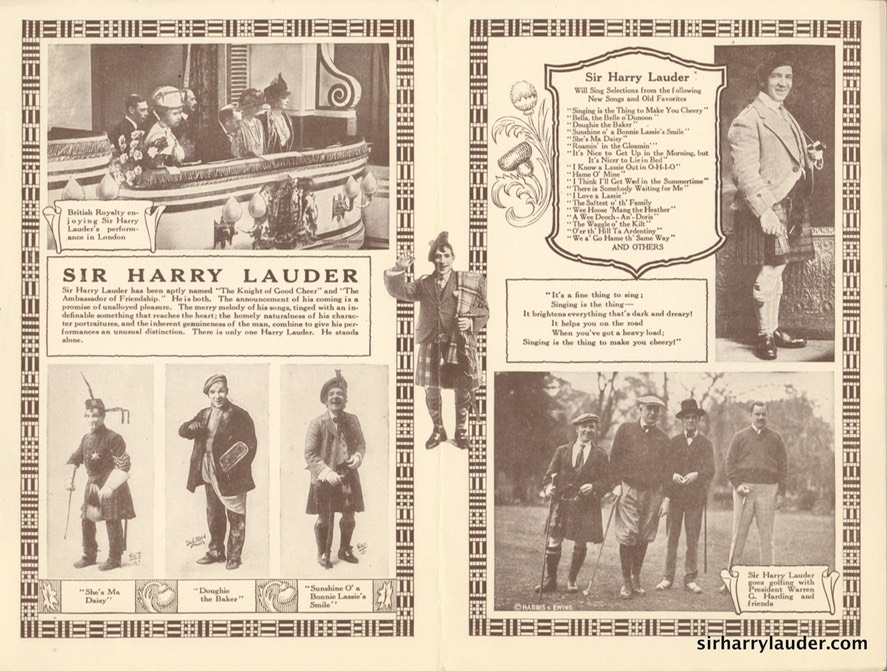 Salt Lake Theatre Programme Bi-Fold Jan 26 1923? Reverse