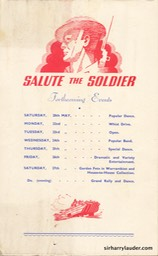 Salute The Soldier Cove Kilcreggan Programme Bi-Fold May 19 1944 -4