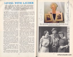 Scots Magazine Article Living With Lauder By Gordon Irving Signed By G Irving & Betty Lauder Hamilton Dated Dec 1994 -1