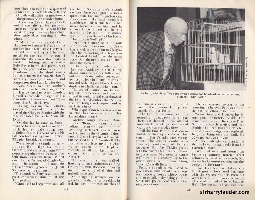 Scots Magazine Article Living With Lauder By Gordon Irving Signed By G Irving & Betty Lauder Hamilton Dated Dec 1994 -2