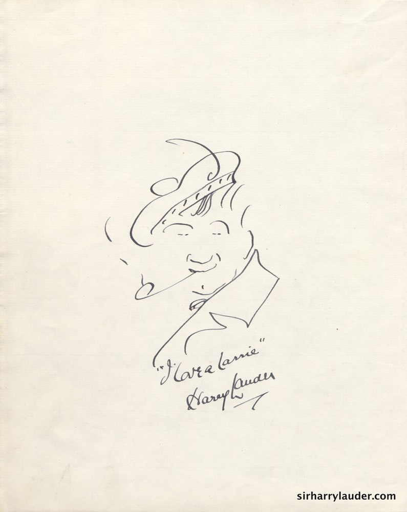 Self Drawn Caricature Ink Large Page Undated