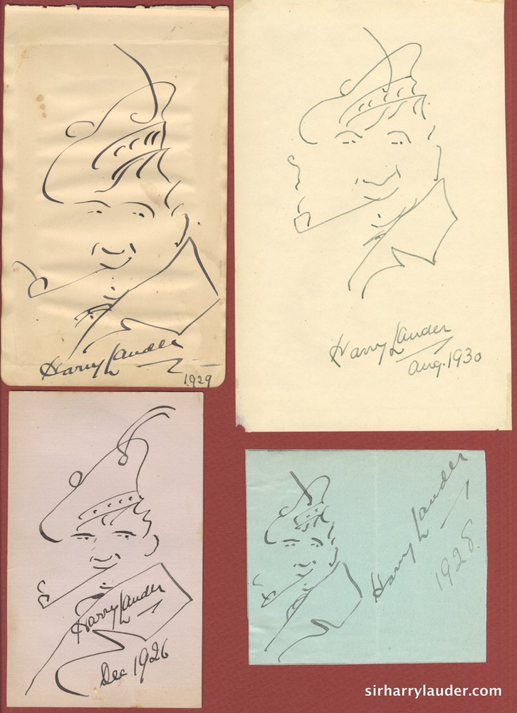 Self Drawn Caricatures Four Ink Various Dates -2