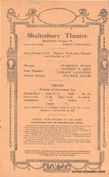 Shaftesbury Theatre London Three Cheers Programme Booklet No 3 1916-17 -04