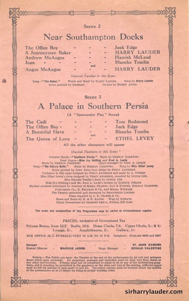 Shaftesbury Theatre London Three Cheers Programme Booklet No 2 1916-17 -6