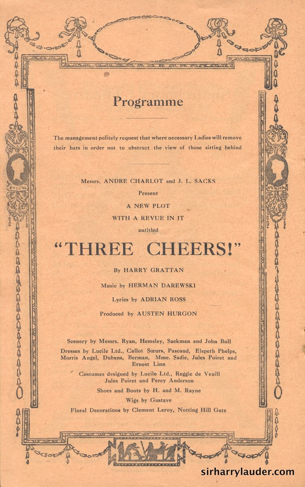 Shaftesbury Theatre London Three Cheers Programme Booklet No 3 1916-17 -05