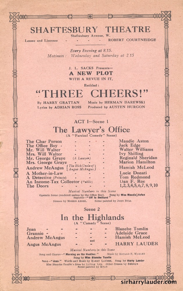 Shaftesbury Theatre London Three Cheers Programme Booklet No 1 1916-17 -3
