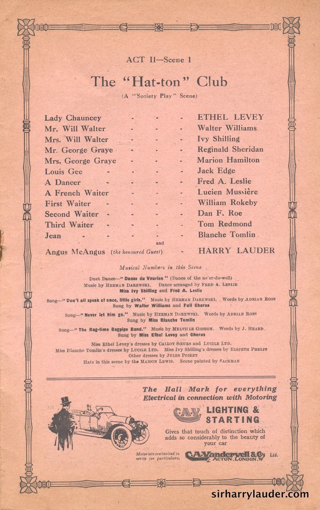 Shaftesbury Theatre London Three Cheers Programme Booklet No 1 1916-17 -5